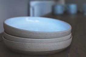 Matt White Stoneware Side Plates