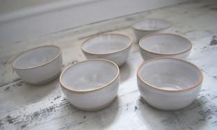 Matt White Stoneware Bowls