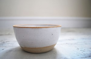 Matt White Stoneware Bowl